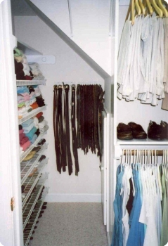 How We Organized This Odd Shaped Closet Order In The House