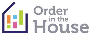 Order In The House logo, professional home organizer in Raleigh North Carolina