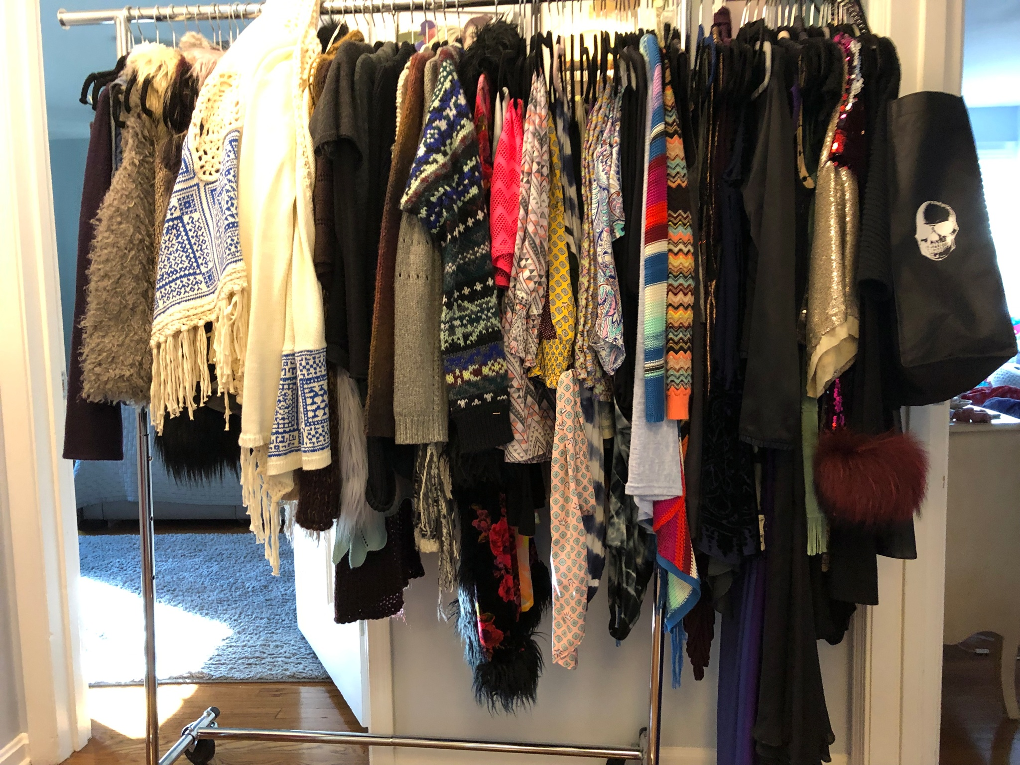 Pulling The Items Out Of Cedar Closet Before Shots Grey White